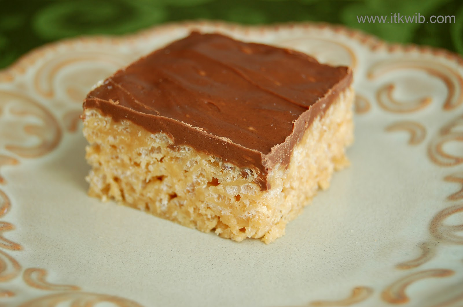 Peanut butter rice krispies in the kitchen where i belong